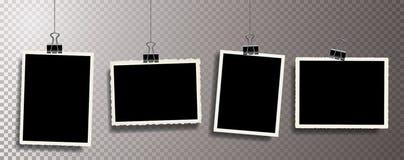 Clip metálico del control de las fotos ilustración del vector