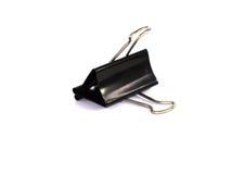 Clip metálico negro de la carpeta Imagen de archivo