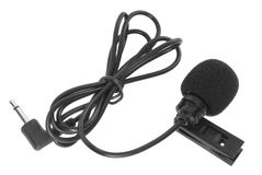 Clip-on microphone Stock Image