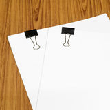 Clip and paper Royalty Free Stock Photo