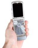 Clip-pathed, cellulare a disposizione Immagini Stock Libere da Diritti