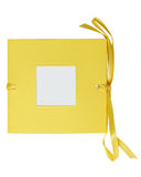 Clip-pathed yellow photo album Stock Photos