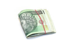 CLIP OF POLISH BANKNOTES. Clip of polish one hundred zloty banknotes royalty free stock photo