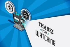 Clip vidéo de vecteur de film de cinéma illustration stock