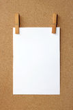 Clip and White blank note Stock Photography