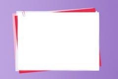 Clip y papel Imágenes de archivo libres de regalías