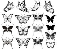 clipart бабочки Стоковая Фотография