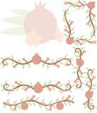 Clipart гранатового дерева Стоковые Изображения RF
