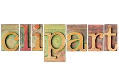 Clipart - деревянный тип коллаж Стоковая Фотография