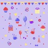 Clipart дня рождения Стоковые Изображения