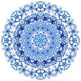 Clipart akwareli koronka Doily koronki round wzór Zdjęcie Royalty Free