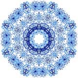 Clipart akwareli koronka Doily koronki round wzór Fotografia Royalty Free