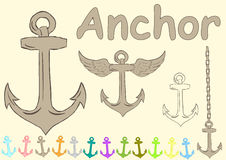 Clipart with anchors Stock Photos