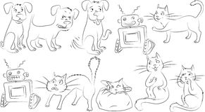 Clipart of animals Stock Photography