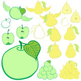 Clipart apples and pears Stock Photography