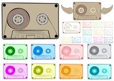 Clipart audio cassette Stock Images