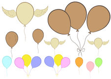 Clipart with balloons Royalty Free Stock Photo