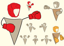 Clipart with boxers signs Stock Images