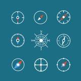 Clipart branco do vetor dos ícones do curso Fotografia de Stock