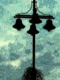 Clipart a campana d'annata dell'illustrazione della siluetta delle luci Fotografia Stock