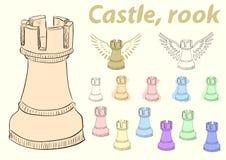 Clipart castle Stock Photo
