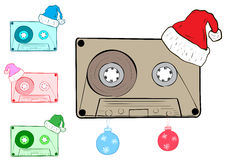 Clipart with Christmas cartridges stock illustration