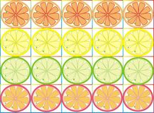 Clipart with citrus Royalty Free Stock Images