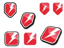 Electric sign collection stock illustration