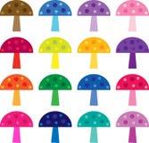Clipart coloré de champignon Photos stock