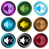 Clipart color icon sound shutdown Stock Image