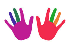 Clipart of Colorful hands. Stock Image