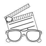 Clipart and 3D glasses icon. Illustraction design Royalty Free Stock Image