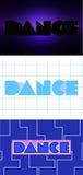 Clipart da dança da palavra do vetor, jogo Imagens de Stock