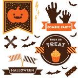 Clipart de Halloween Fotografia de Stock