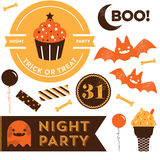 Clipart de Halloween Fotos de Stock