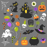Clipart de Halloween Fotos de Stock