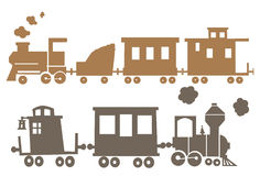 Clipart de train Photos stock