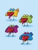 Clipart degli uccelli Immagini Stock Libere da Diritti