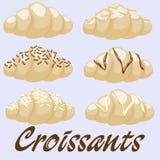Clipart dei croissant Fotografia Stock