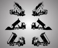 Clipart del camion di capovolgimento Immagine Stock