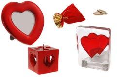 Clipart del día de tarjeta del día de San Valentín Imagenes de archivo