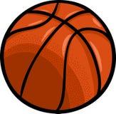 Clipart del fumetto della palla di pallacanestro Fotografia Stock Libera da Diritti