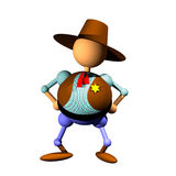 Clipart del sheriff Imagen de archivo libre de regalías