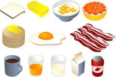 Clipart della prima colazione Fotografia Stock
