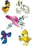 Clipart della primavera Fotografia Stock