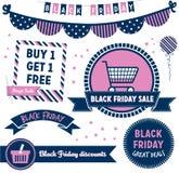Clipart di Black Friday Fotografia Stock Libera da Diritti