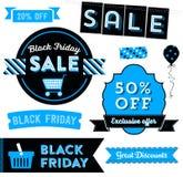 Clipart di Black Friday Immagini Stock