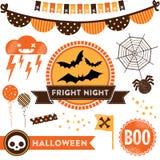 Clipart di Halloween Fotografie Stock Libere da Diritti