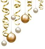 Clipart di Natale con le bagattelle illustrazione di stock