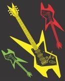 Clipart di progettazione di vettore della chitarra elettrica Fotografie Stock